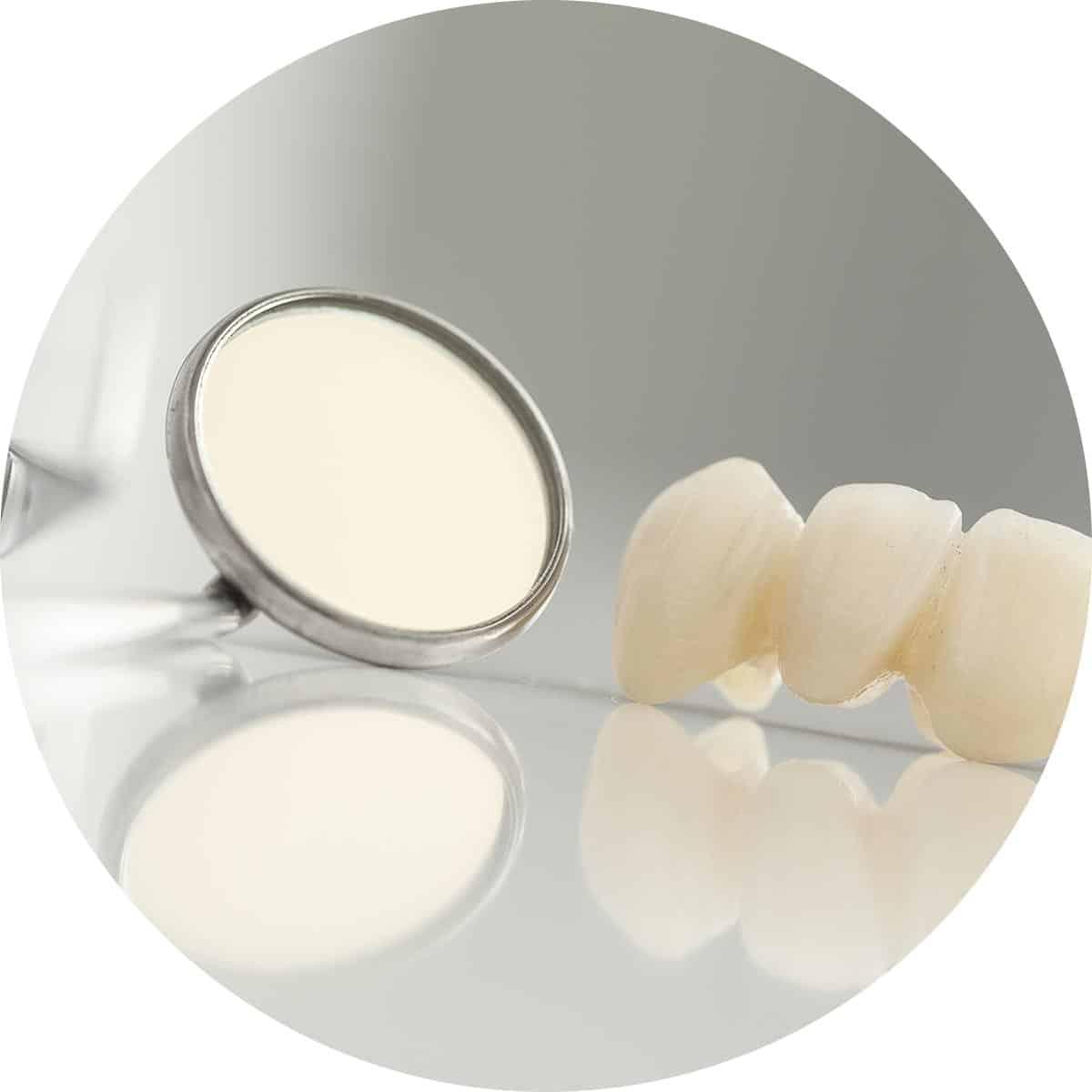 Dental Crowns and Dental mirror image