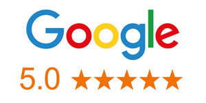 5 Star Reviews on Google